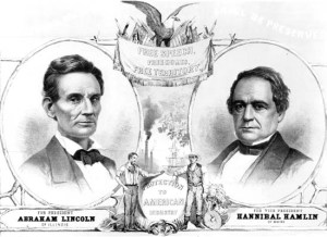 Poster for Presidential Election 1860